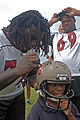 Davin Joseph and Anthony Davis at Buccaneers 2006 scrimmage.jpg