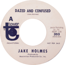 Dazed and Confused by Jake Holmes US promo vinyl.png