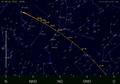De baan van de planetoïde 2012 DA14 aan de hemel voor een waarnemer in Utrecht.png