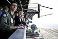 Defense.gov News Photo 101206-N-4973M-083 - Secretary of Defense Robert M. Gates 2nd from left observes flight operations aboard the aircraft carrier USS Abraham Lincoln CVN 72 underway in.jpg
