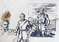 Dehodencq A. - Ink - Etudes pour le portrait du général Fergusson, gouverneur de Gibraltar - 21.3x29.6cm.jpg
