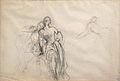 Dehodencq A. - Pencil - Esquisse de personnages avec un homme reposant sur l'épaule d'une femme - 27,7x18,6cm.jpg