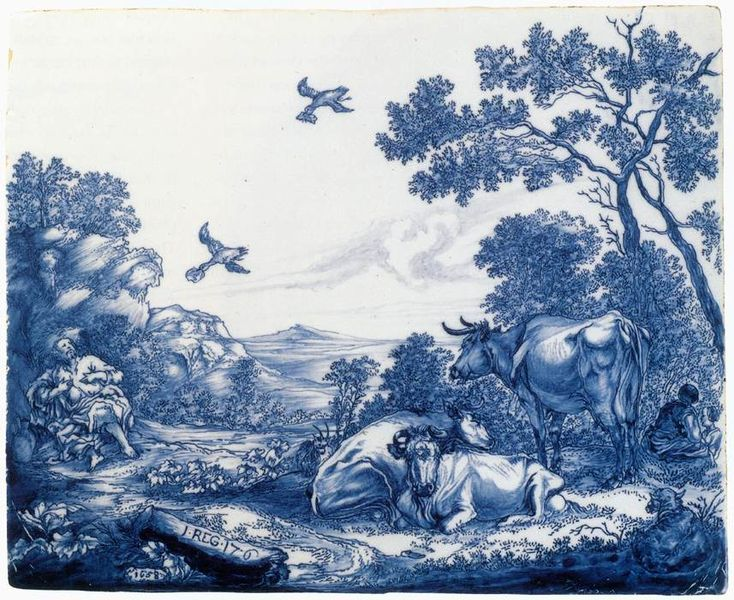 File:Delftware plaque with the Prophet Elijah fed by the Ravens.jpg