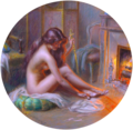 Delphin Enjolras - At the Fireplace 02.png