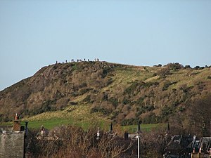 People on Craiglockhart Hill
