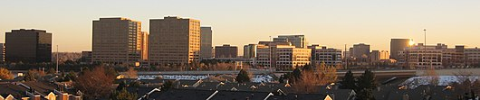 DTC skyline from the north at sunset