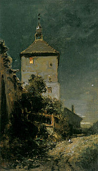 Der Blasturm in Schwandorf (Carl Spitzweg).jpg