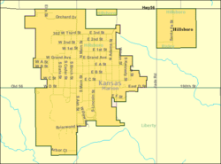 Detailed map of Hillsboro