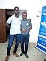 Deux formateur Atelier de rédaction d'article a Cotonou par les Wikimédiens du Bénin.jpg