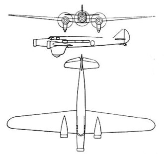 Dewoitine D.332 - Dewoitine D.332 3-view drawing from L'Aerophile October 1933