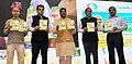 Dharmendra Pradhan releasing the publication at the exchange of MoU documents between Oil PSUs and innovators & incubatees on start-up funds to mentor budding entrepreneursinnovators, in New Delhi.jpg