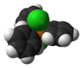 Dichlorotriphenylphosphine-molecular-from-xtal-1998-3D-vdW.png