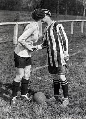 Dick, Kerr's Ladies F.C. - The team captains kiss