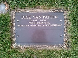 Dick Van Patten - Grave of Dick Van Patten at Forest Lawn Memorial Park, Hollywood Hills.
