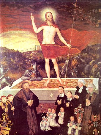 """Even though I am a sinner and deserving of death and hell, this shall nonetheless be my consolation and my victory that my Lord Jesus lives and has risen so that He, in the end, might rescue me from sin, death, and hell.""--Luther Die-Auferstahung-Christi 15.jpg"