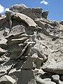 Differentially cemented & eroded sandstone (member C, Uinta Formation, Eocene; Fantasy Canyon, Utah, USA) 22 (24476876629).jpg
