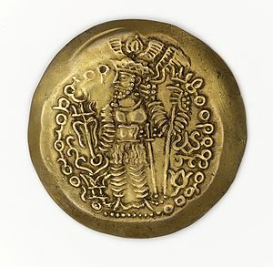 Bahram III - Dinar of Varahram III (?).