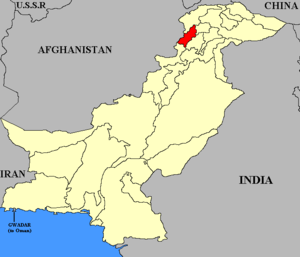 Dir (princely state) - Map of Pakistan with Dir highlighted