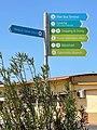 Directional sign in Sint Nicolaas Aruba.jpeg
