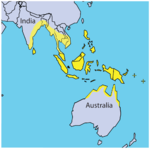 Distribution of the saltwater crocodile, Crocodylus porosus - journal.pone.0027373.g004.png
