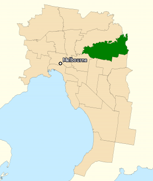 Division of Menzies - Division of Menzies in Victoria, as of the 2016 federal election.