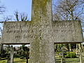 Dobbertin Klosterfriedhof Grabstein Ottilie von Behr Reihe 3 Platz 9 2012-03-23 291.JPG