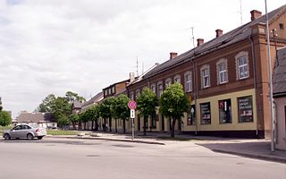 Town in Dobele Municipality, Latvia