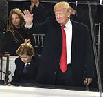 Donald and Barron Trump at Inaugural parade 01-20-17.jpg