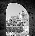 Doorkijkje op het Forum Romanum met rechts het monument voor koning Victor Emanu, Bestanddeelnr 254-5516.jpg