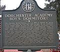 Dorchester Academy Boy's Dorm historical marker.jpg