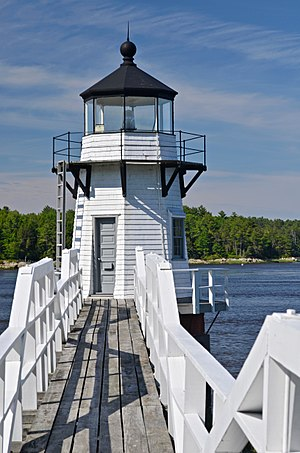 Doubling Point Light - Image: Doubling Point Lighthouse North 1
