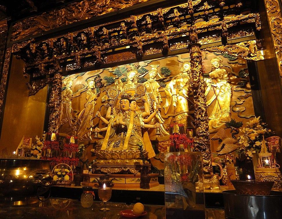 Doumu altar and statue at the Doumugong of Butterworth, Penang