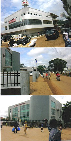 Collage of images of downtown Kenema