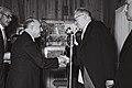 Dr. G. Garcia Granados Guatemala's with Yitzhak Ben Zvi at Beit HaNassi, 1955 (D756-121).jpg
