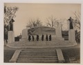 Dr Bell and committee in front of the Bell memorial, looking at tablet (HS85-10-33597) original.tif