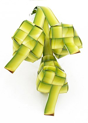 Ketupat - Ketupat Raya, images of ketupat are often used as decoration to celebrate Hari Raya or Eid ul-Fitr.