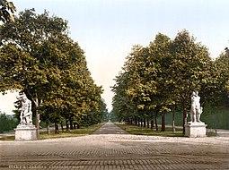 Paseo de Hércules en el Großer Garten hacia 1900