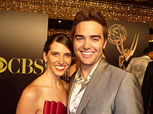 Drew Tyler Bell and Sarah Grunau 2010 Daytime Emmy Awards.jpg