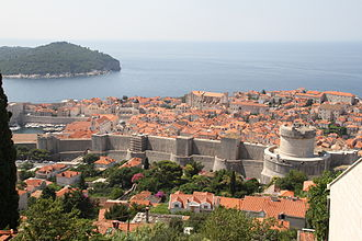 William Hoste - Walls of Ragussa (Dubrovnik today) which Hoste and his small force managed to capture from the French in 1814