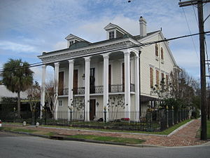 "Bayou St. John, New Orleans - The Dufour Plassan House with its ""cornstalk fence"" is a neighborhood landmark"