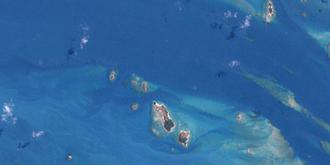 Duncan Islands - A Landsat image of the Duncan Islands