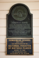 Dungeness School NRHP plaque.png