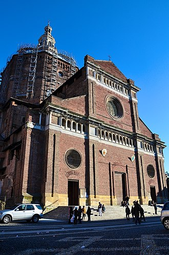 Pavia Cathedral - West front of the cathedral