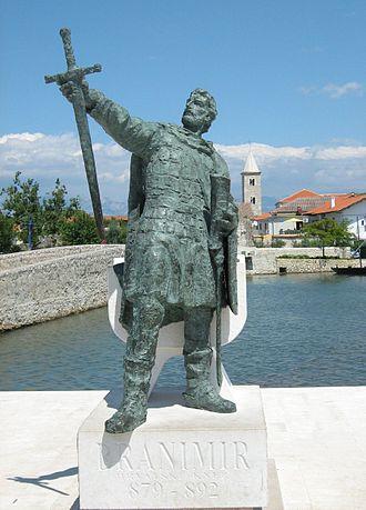Branimir of Croatia - The monument of Duke Branimir in Nin, Croatia
