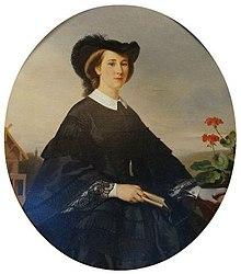 Katharina Orlowa, um 1860, Gemälde von Franz Xaver Winterhalter (Quelle: Wikimedia)