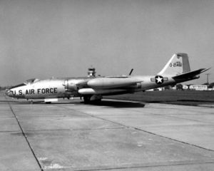 Martin B-57 Canberra - EB-57A parked at Scott AFB, 1969.