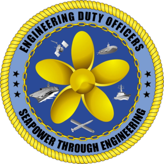 Engineering duty officer - Official logotype of the engineering duty officer community