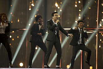 Basim (singer) - Basim on the stage of Eurovision 2014
