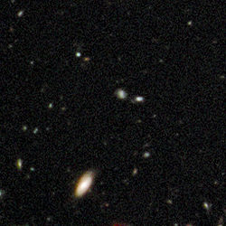 Early galaxies in Hubble Ultra Deep Field 2009 (WFC3-IR, close-up 2).jpg