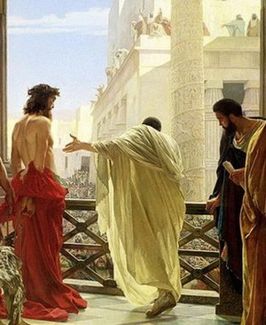A cropped version of Ecce homo (Behold the Man...